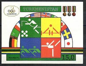 Turkmenistan Stamp - 92 Olympics Stamp - NH