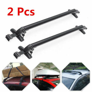 AU Universal Car Top Roof Rack Cross Bar Luggage Cargo Carrier 110cm 150kg Black
