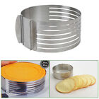New Stainless Steel Adjustable Scalable Round Mousse Cake Layer Slicer Ring Mold