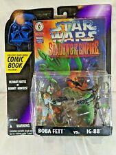 Vintage Star Wars Shadows of the Empire Kenner 1996 - Boba Fett & IG 88