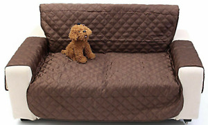Kid/Pet Dog Reversible Loveseat Cover Couch Slipcover 2 Seat Furniture Protector