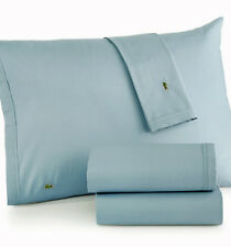 Lacoste Cotton Brushed Twill Wrinkle Resist 4Pc Queen Sheet Set Cameo Green Aqua