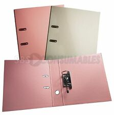 Exacompta A4 Lever Arch Files - Pack of 2: Salmon & Cream. 70mm Spine, PVC Cover