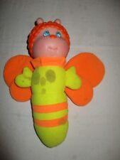 Vintage Soma Gloworm Hug N Glo Bee Glow Worm Bug Plush Firefly Works *Spots*