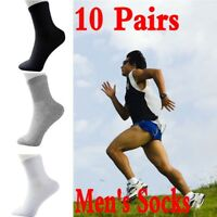 10 Pairs Men's Sport Socks Winter Thermal Casual Soft Cotton Sport Sock Gift Lot