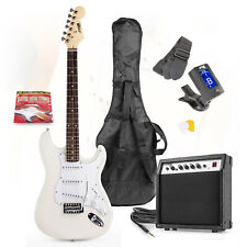 Max Factory Gigkit Electric Guitar Starter Set Including 40w Amplifier - White