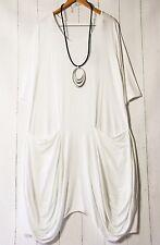 Moonshine Dress Balloon Dress Size XL Layered Look Pockets White Basic New