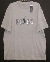 Polo Ralph Lauren Big & Tall Mens XLT Gray Polo Pony Crewneck T-Shirt NWT XLT