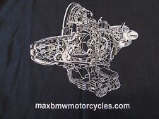 Max BMW Motorcycles Cut away Engine Graphic SS T Shirt Size M (NWOT)