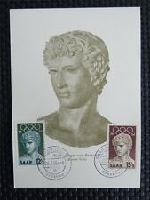 SAAR MK 1956 371/72 OLYMPICS OLYMPIA MAXIMUMKARTE MAXIMUM CARD MC c4926