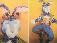 "MAD MARCH HARE~SUZETTE GLASTONBURY RUGOLO 20"" (50cm) cloth art doll pattern"
