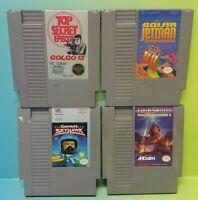 Nintendo NES Game Lot Tested Authentic Jetman Iron Sword Golgo 13 Captain Skyhaw