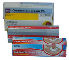 3x Clotrimazole 1% Cream 20g -Canesten- Thrush/Nappy Rash/Ringworm/Athletes Foot
