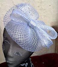 silver crin fascinator headband headpiece wedding party race ascot bridal