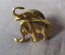 Elephants Gold Tone Small 1/2 X 3/4 Lapel Pin