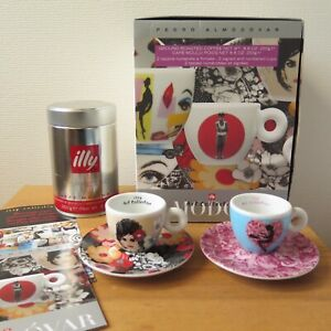 Illy Art Collection PEDRO ALMODOVAR 2009 2x ESPRESSO CUP & SAUCER BOXED SET