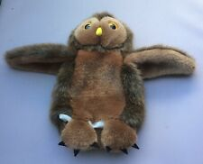 """The Puppet Company Soft Toy Plush Brown Barn Owl Hand Glove 9"""" Large Beautiful"""