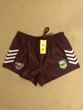 Crisp Satin Nylon NRL Rugby Shorts 3XL Maroon