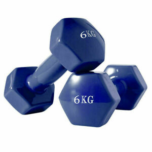 Dumbbells Pair In Vinyl 1-6kg Weights Fitness Weight Lifting Gym