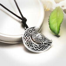 Fashion Goddess Crescent Moon Pendant Owl Necklace Wicca Pentagram Pagan Amulet