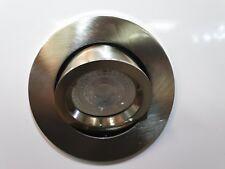Large Satin GU10 Scoop Tilt Directional Recessed Ceiling Spotlight Downlights