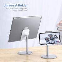 Tablet Cell Phone Desk Desktop Mount Stand Holder Universal Adjustable Aluminum