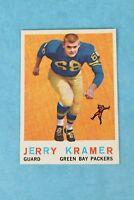 1959 TOPPS #116 JERRY KRAMER GREEN BAY PACKERS FOOTBALL TRADING CARD