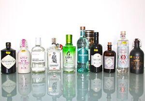 10 x Gin: Monkey 47, Hendricks, Dodd's, Granit, Eden Mill, G'Vine 40- 49,90%vol.