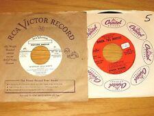 PROMO LOT of 2 POP 45 RPMs - DINAH SHORE - RCA and CAPITOL LABELS