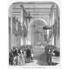 Reykjavik servizio per il re della Danimarca nella Cattedrale-antico print 1874