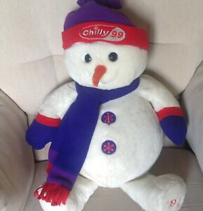 """TESCO 1999 SNOWMAN LARGE 22"""" TALL SOFT PLUSH TOY EXCELLENT CONDITION"""