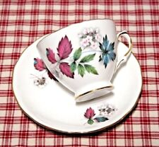 Queen Anne pattern 7974 Footed Tea Cup and Saucer Set Ridgways Potteries  MINT!