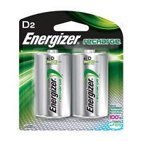 Energizer Rechargeable Batteries, NiMH D 2500 mAH (Per 2)