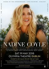 NADINE COYLE 2018 DUBLIN CONCERT TOUR POSTER -Girls Aloud, Derry Girls, Popstars