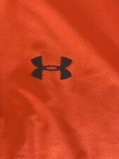 Mens Under Armour Heat Gear Fitted Gym Shirt Bright Orange Size Large