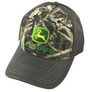 NEW John Deere Waxy Coated Brown Next Camo Structured Cap LP70612