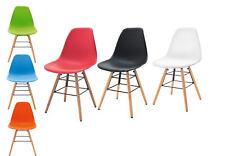 4er Set Esszimmerstuhl  COPILOT Stuhl Konferenzstuhl Holzgestell mit Metall