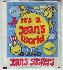 VERY RARE SEALED STICKER PACK - IT'S A JEAN'S WORLD