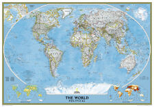 National Geographic - World Classic Map, Enlarged & Laminated Poster, 69x48