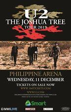 "U2 ""The Joshua Tree Tour 2019"" Manila, Philippines Concert Poster - Band Walking"