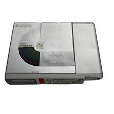 Sony Portable Mini Disc Player Recorder Walkman Mz-R37 Silver Parts Or Repair