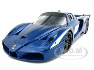 FERRARI FXX EVOLUZIONE BLUE 1:18 DIECAST MODEL CAR BY HOTWHEELS T6922