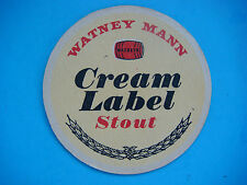 Vintage Beer Coaster ~*~ Sleeman Brewery WATNEY MANN Cream Label Stout ~ ENGLAND
