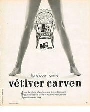 PUBLICITE ADVERTISING  1975   CARVEN   eau de toilette homme VETIVER