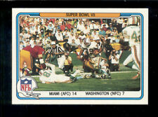 1982 Fleer LARRY CSONKA PAUL WARFIELD Miami Dolphins Redskins Super Bowl VII