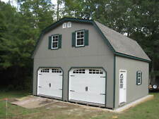 AMISH 20x20 DOUBLE WIDE GARAGE GAMBREL ROOF STRUCTURE