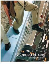 PUBLICITE ADVERTISING 2000    DOCKERS KHAKIS   D4 REGULAR chaussures