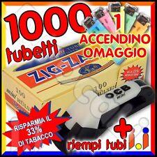 1000 tubetti ZIG ZAG mini SIGARETTE VUOTE corte + Macchinetta Riempi Tubi OCB