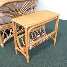 Honey Rattan Magazine End Side Table