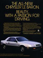 1988 Chrysler LeBaron Coupe - Classic Vintage Car Advertisement Ad J27